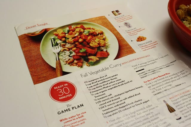 I was then educate for this calendar week to endure over  Fall Vegetable Curry alongside Cashew Quinoa