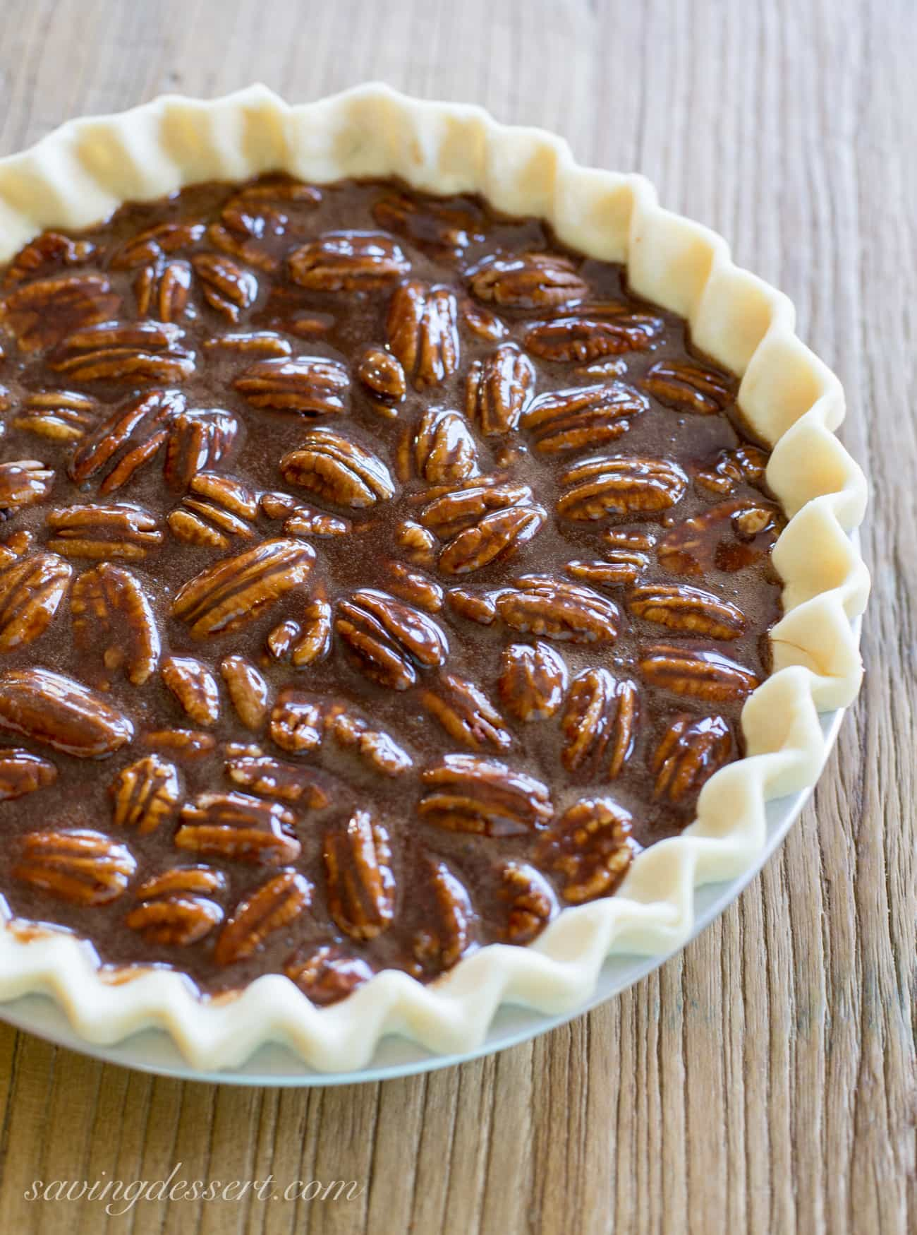 3. Chocolate Pecan Pie - Saving Room for Dessert
