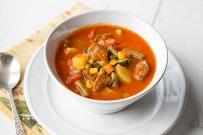 snowfall is inward the forecast for this weekend Homemade Vegetable Beef Soup