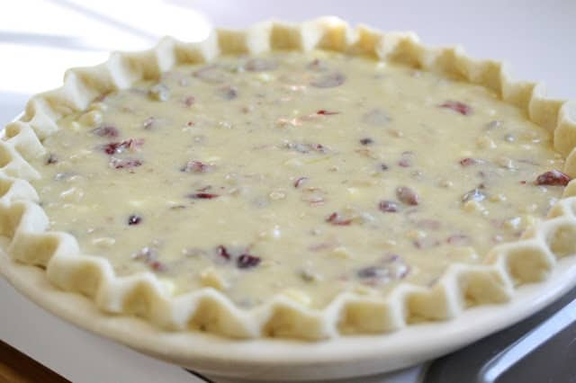 a sugariness together with delicious combination of brandy soaked cranberries No. seven – Cranberry Chocolate Nut Pie
