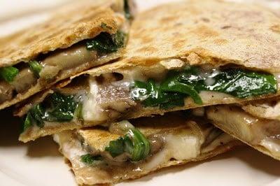 ve larn obsessed amongst finding a fantastic quesadilla recipe Spinach  Mushroom Quesadillas