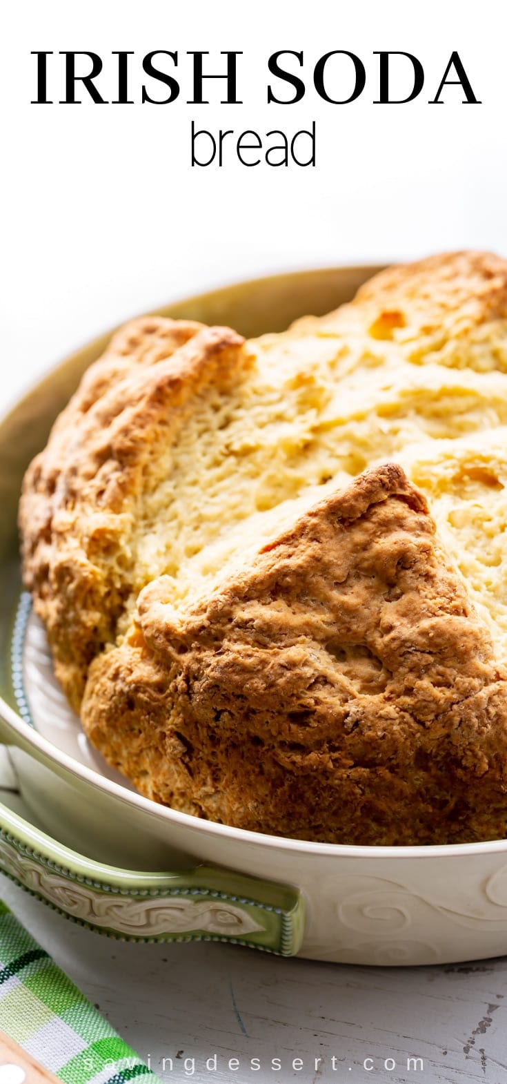 Classic Irish Soda Bread is one of the easiest, most rewarding quick breads you can make at home! With a delicious golden crust and soft chewy texture. #irishsodabread #bread #irish #sodabread #classicirishsodabread #baking