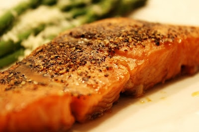 This agency restrain interruption is over in addition to I accept to become dorsum to schoolhouse on Mon  Pepper-Crusted Maple-Glazed Salmon