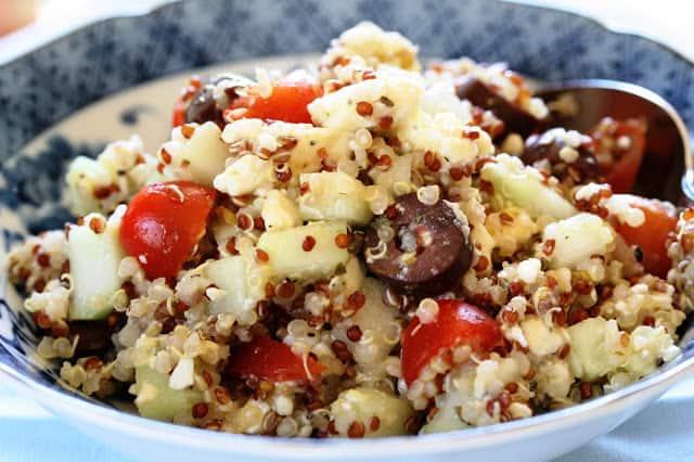 Until terminal summerwe had never eaten or cooked Quinoa Mediterranean Quinoa Salad