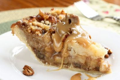 but traveling hubby said it tastes absolutely incredible Sticky Toffee Pudding Apple Pie