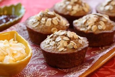 Banana Bran Muffins with Oats