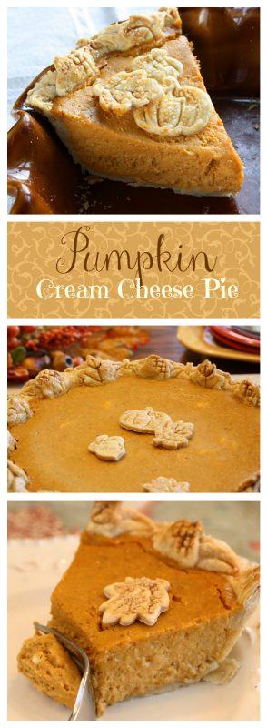 Pumpkin Cream Cheese Pie   www.savingdessert.com
