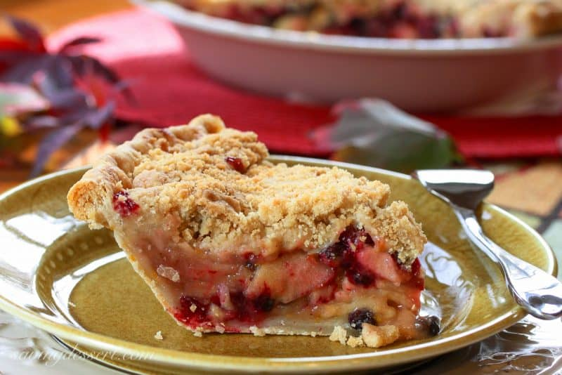 Apple, Cranberry & Currant Crumb Pie | www.savingdessert.com