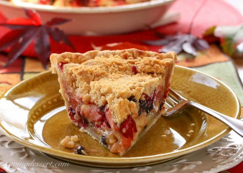 Apple, Cranberry & Currant Crumb Pie | www.savingdessert.com