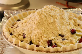 Apple, Cranberry & Currant Crumb Pie