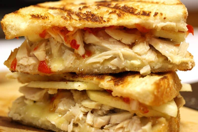 Turkey, Brie, Apple & Hot Pepper Jelly Panini
