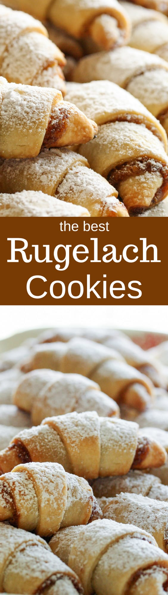 Rugelach Cookies - Crescent shaped cookies with tender dough inside, slightly crisp outside, with a hint of a sweet, nutty chocolate filling. www.savingdessert.com