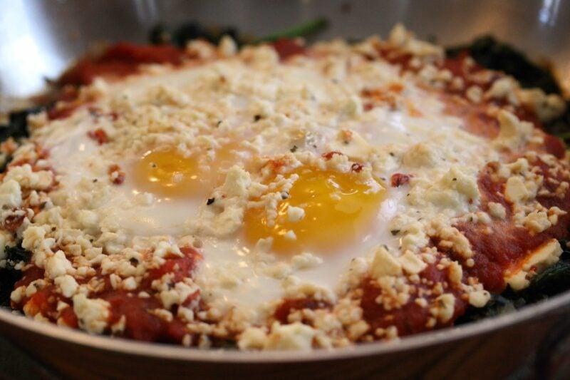 Spinach, Kale & Egg Skillet