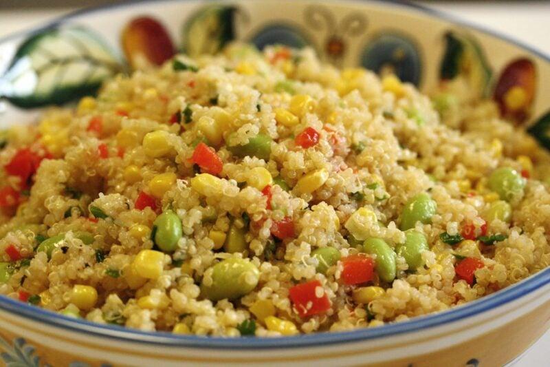 Quinoa Edamame and Corn Salad