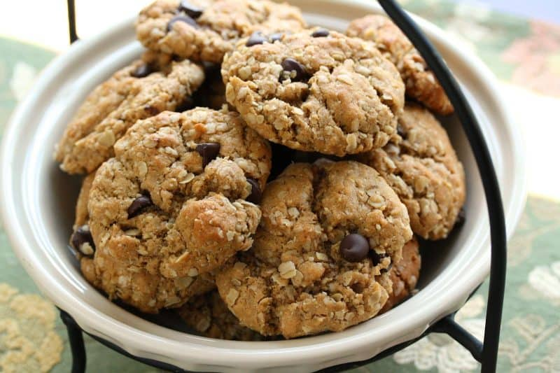 Razzle Dazzle Peanut Butter Oatmeal Cookies