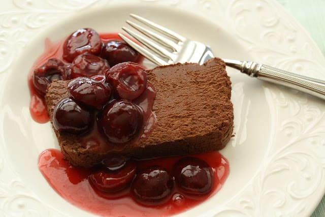 Chocolate Marquise with Fresh Cherry Sauce