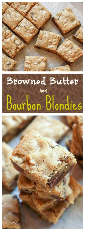Browned Butter & Bourbon Blondies