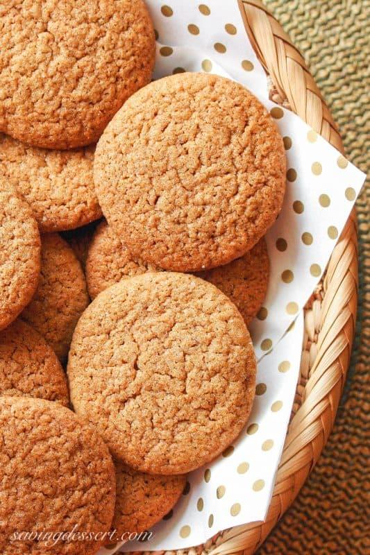 Ginger Snap Cookies ~ Saving Room for Dessert