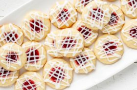 Raspberry Almond Shortbread Thumbprints