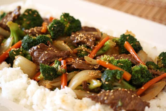 Beef & Broccoli Stir Fry is a classic, easy, delicious dish. Everybody needs at least one variation in their recipe binder. www.savingdessert.com