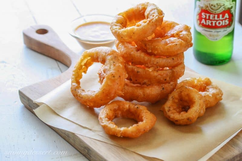 Bacon Wrapped Onion Rings recipe - A Dish of Daily Life