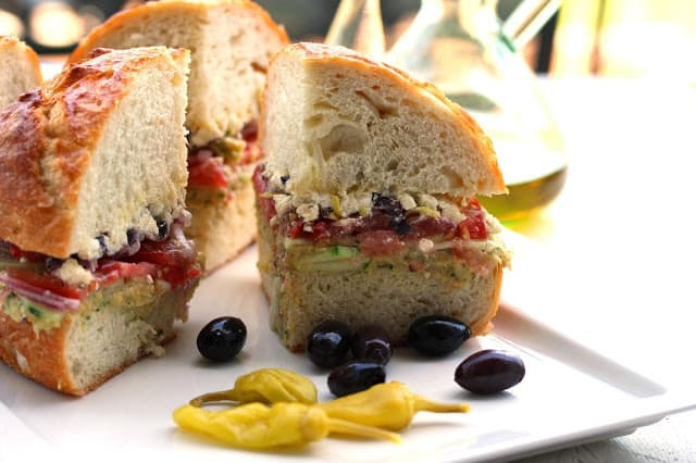 Greek Salad Sandwich - Saving Room for Dessert