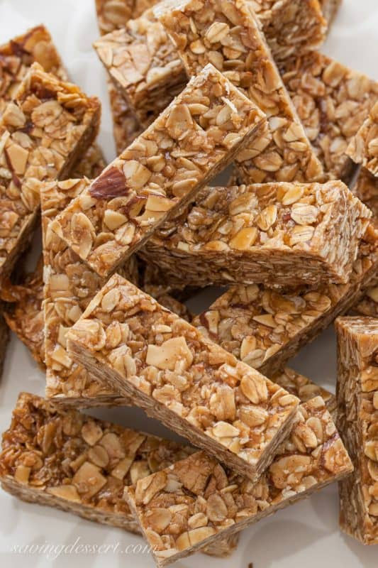 Thick and Chewy Biscoff Almond Granola Bars