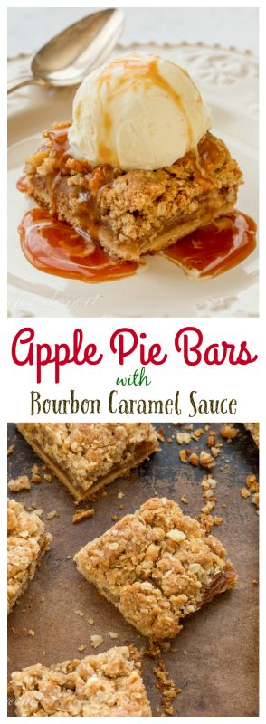 Apple Pie Bars with Bourbon Caramel Sauce