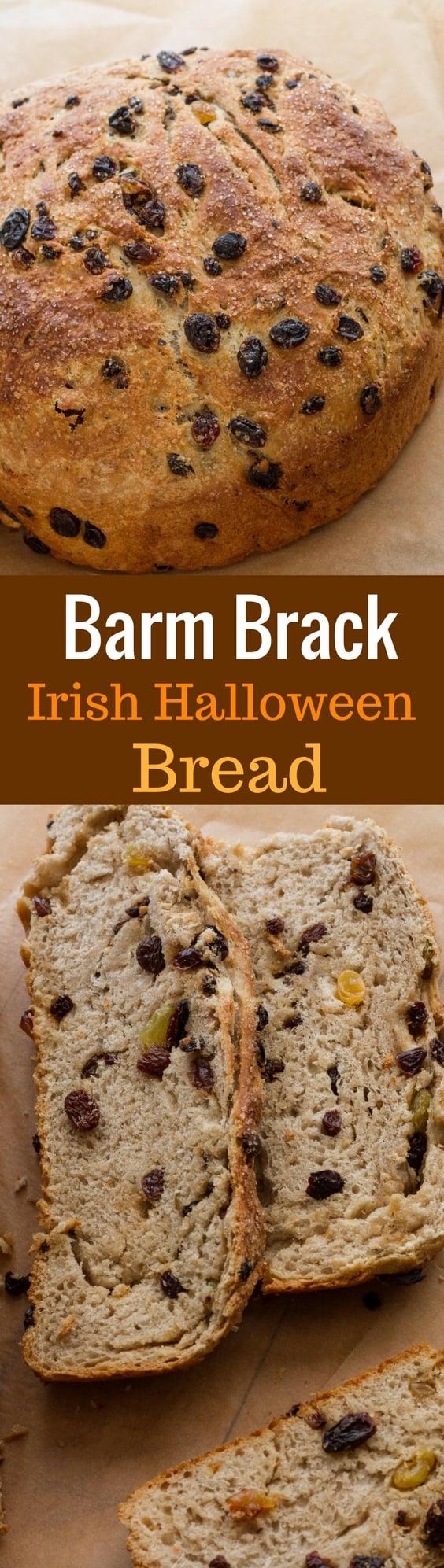 Barm Brack - Irish Halloween Bread - a little sweeter than sandwich bread, but not as rich as cake | www.savingdessert.com