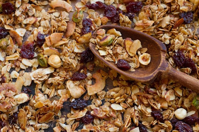 Coconut Cherry Almond Granola - Saving Room for Dessert