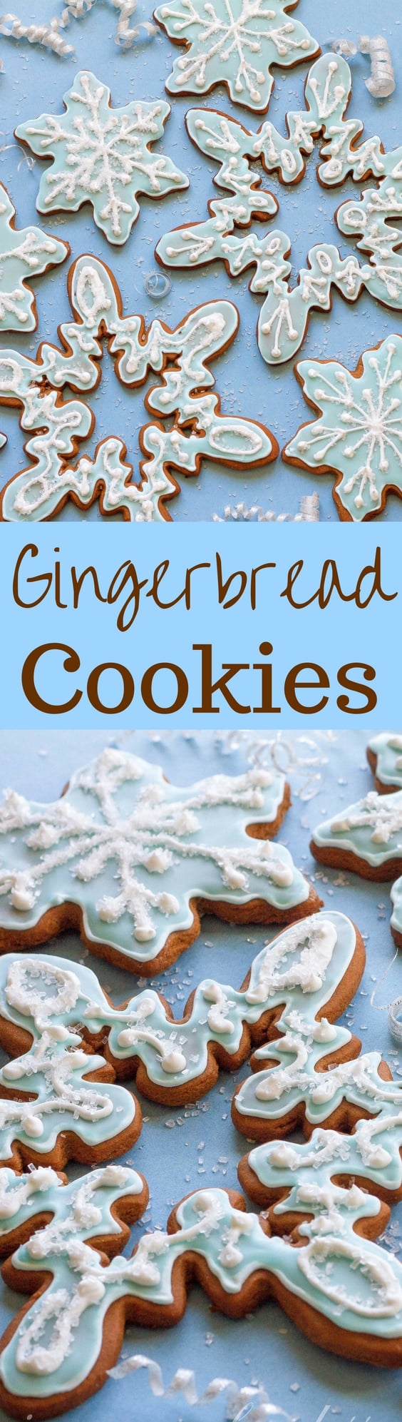 Classic Gingerbread Cookies in a festive snowflake design.  A tasty treat for the holidays!  www.savingdessert.com