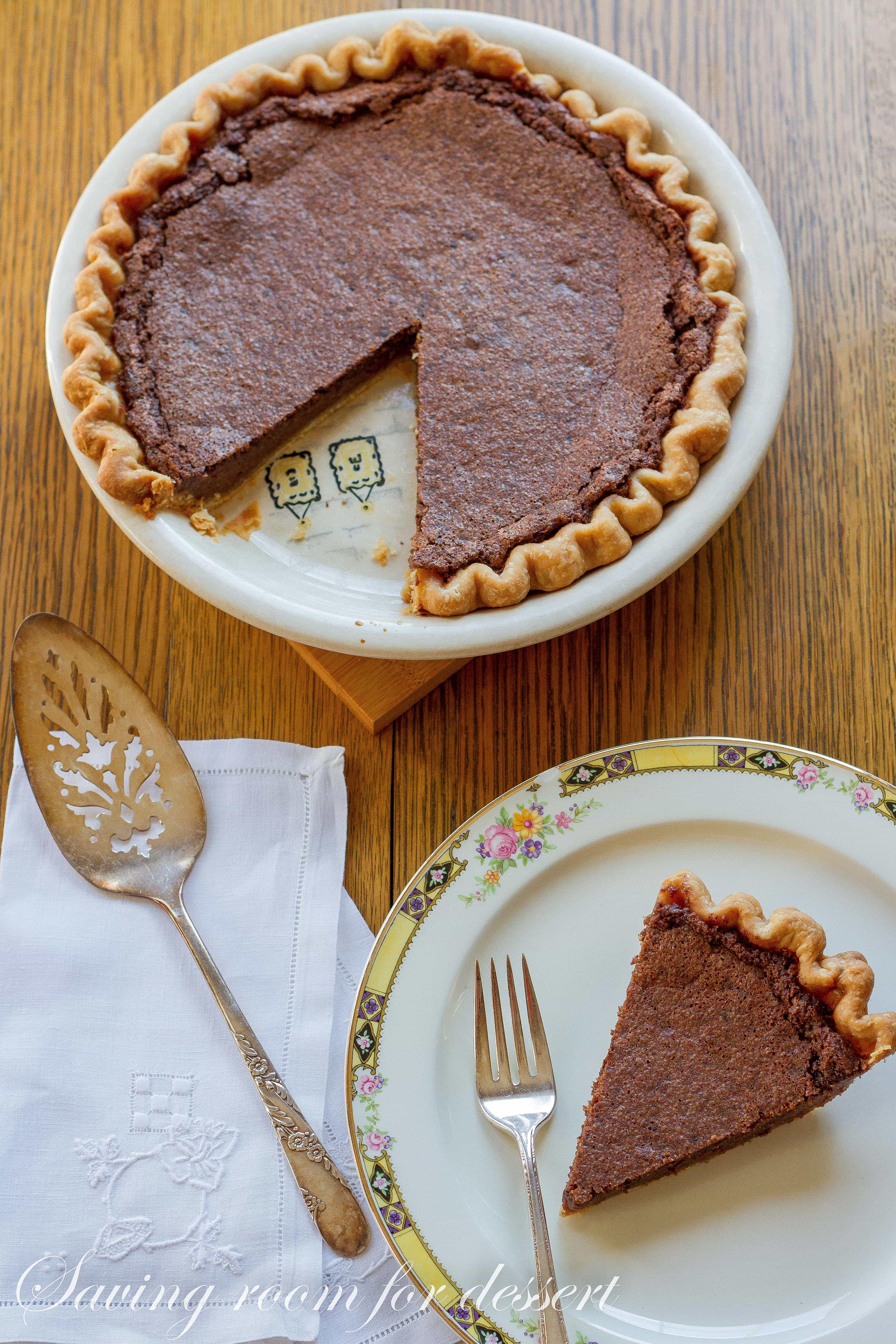 Minny's Chocolate Pie - Saving Room for Dessert