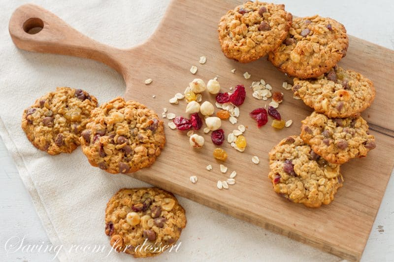 Oats Fruit and Nut Browned Butter Breakfast Cookie - a perfect grab and go, wholesome, homemade breakfast