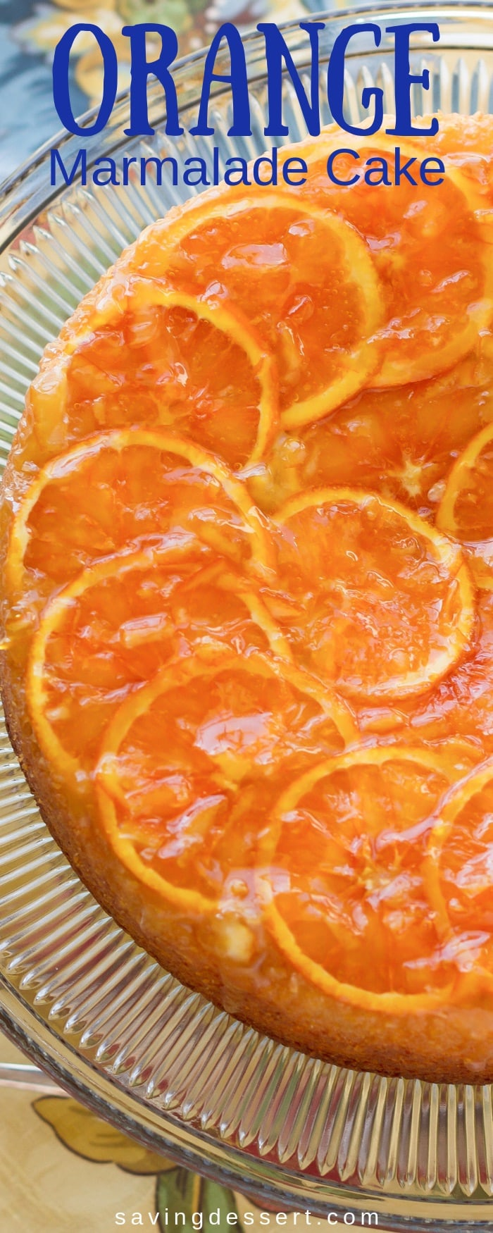 Orange Marmalade Cake ~ Moist and tender and loaded with orange flavor - a ray of sunshine on a plate! #orangecake #cake #marmaladecake #orangemarmaladecake #easycake #orange
