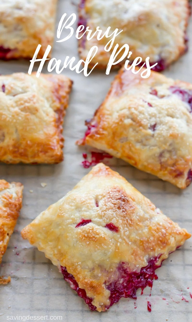 Mixed Berry Hand Pies with your favorite berries tucked inside a tender, flaky buttery crust. No fork needed!