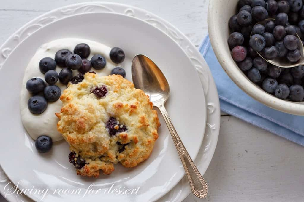 Blueberry Shortcakes with Whipped Cream Cheese - Saving Room for ...