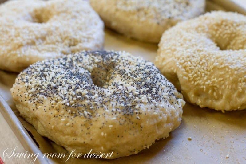 Homemade Bagels | www.savingdessert.com