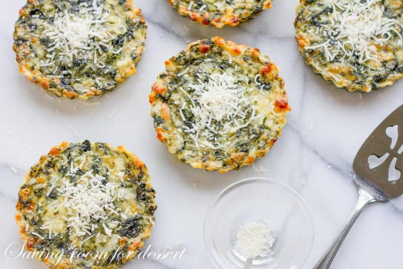 Spinach Tarts - An Irish Recipe from www.savingdessert.com