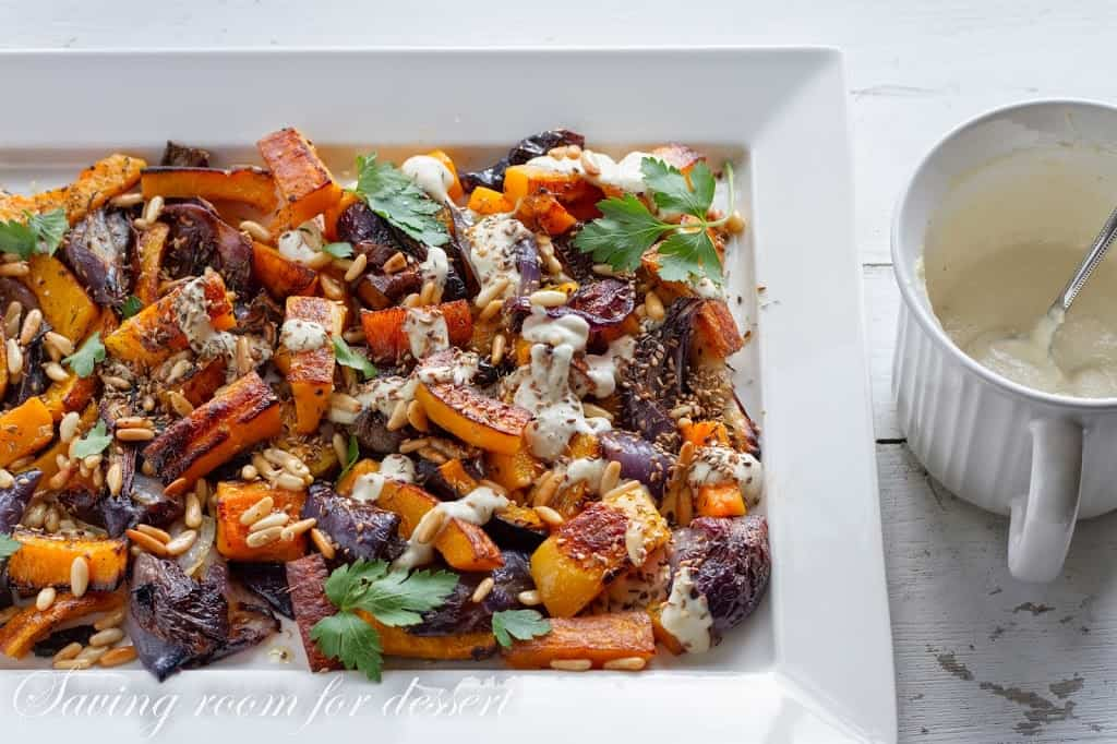 Roasted butternut squash - red onions - tahini and za'atar - Saving ...