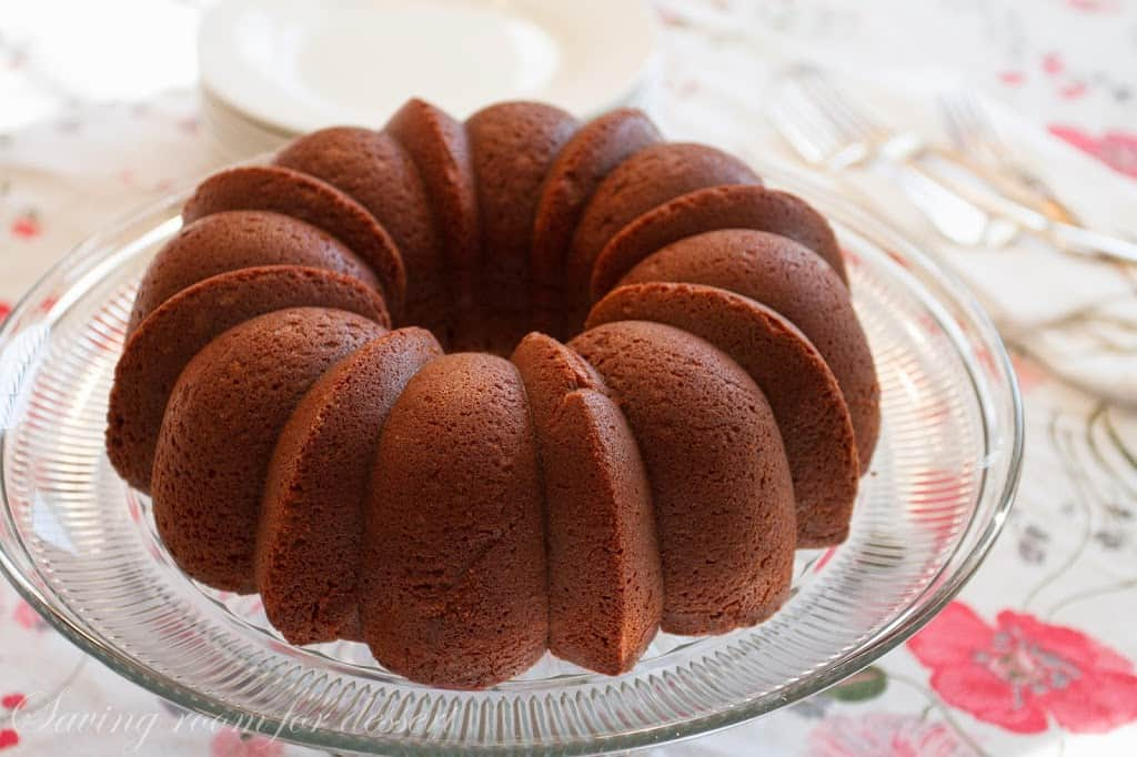 this slowly to build dessert is topped amongst a silky polish chocolate glaze  Chocolate Pound Cake