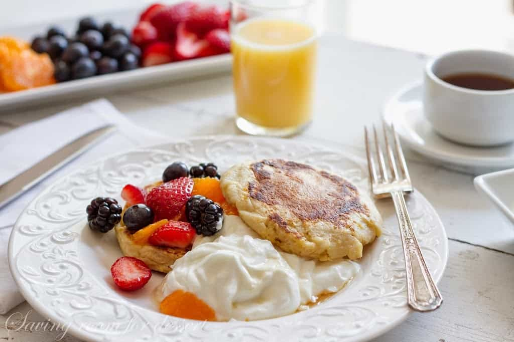english muffin french toast - Saving Room for Dessert