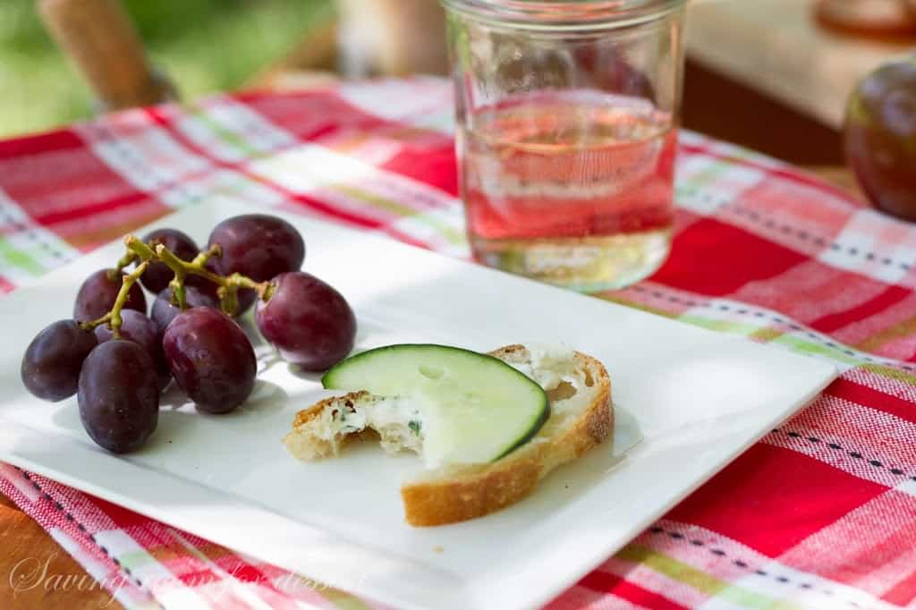 Herbed Goat Cheese Spread and a picnic for Memorial Day - Saving Room ...