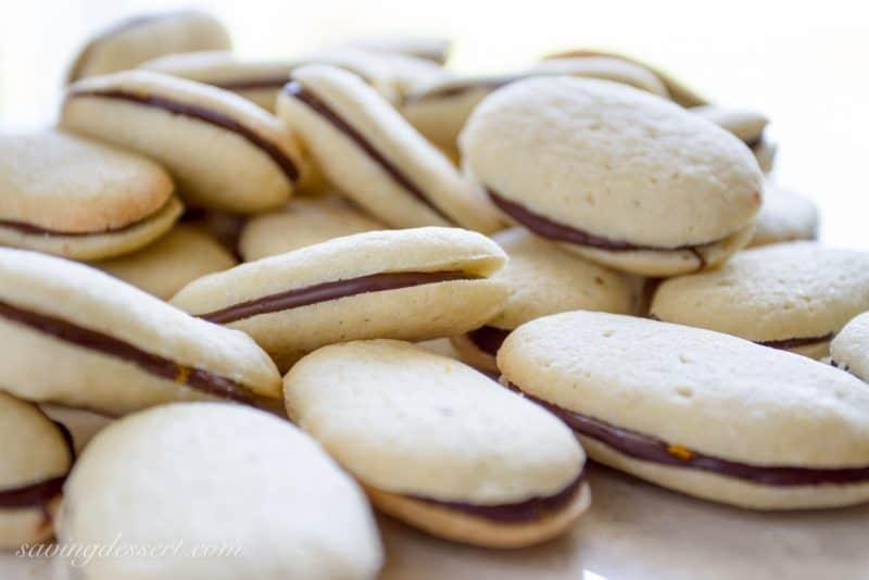 Homemade Orange Milano Cookies