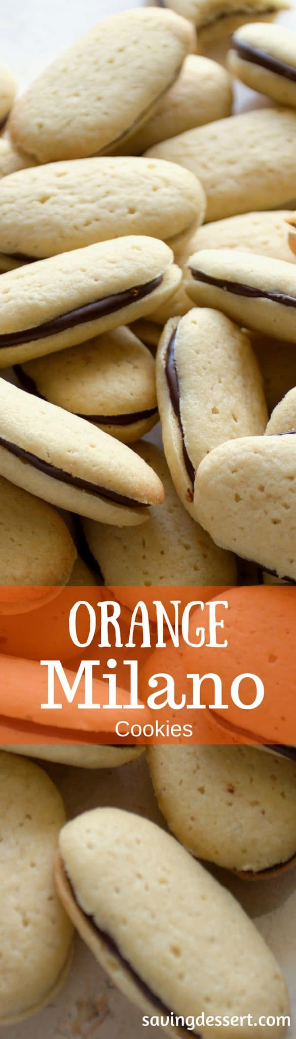 delicious vanilla cookies amongst a nighttime chocolate oculus flavored amongst orangish zest  www Orange Milano Cookies