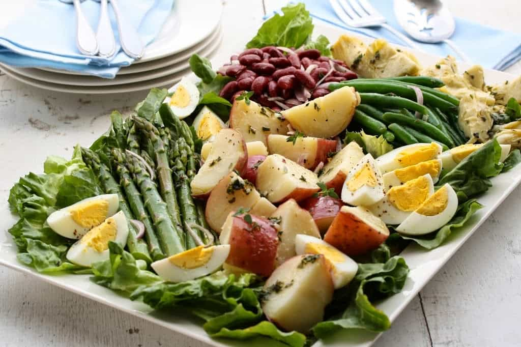 s how I would depict this garden fresh raw asparagus salad Shaved Asparagus Salad