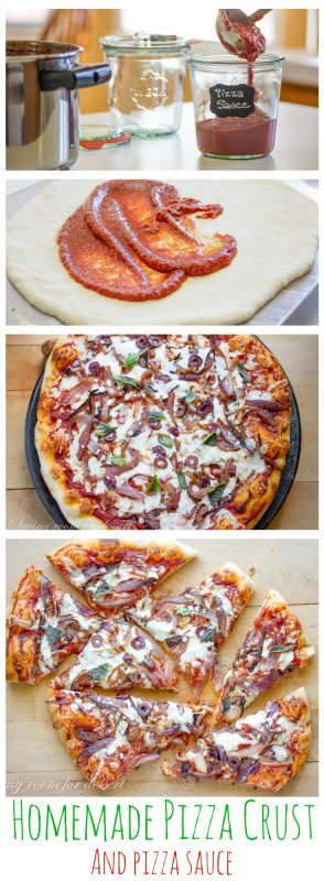 Homemade Pizza Sauce & Pizza Crust