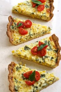 Maybe I should brand a fritatta shortly also fresh corn in addition to basil tart