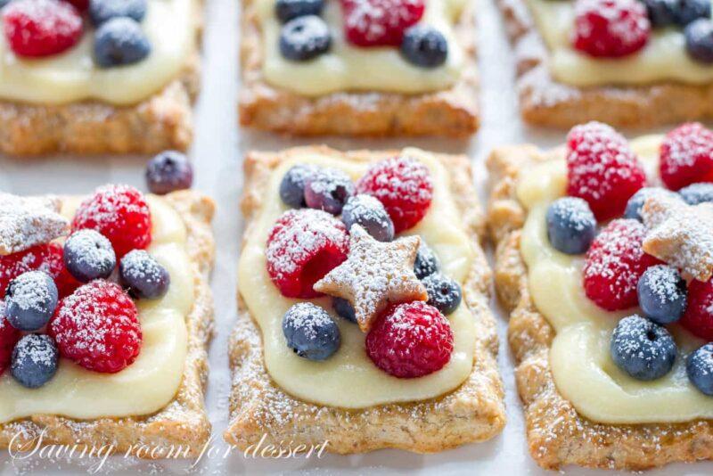 Star-Studded Tarts with Vanilla Pastry Cream