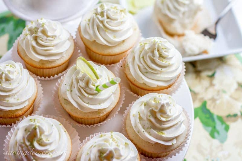 Tender white Lime Cupcakes amongst Swiss Lime Buttercream together with simply the correct amount of zing f Lime Cupcakes amongst Swiss Lime Buttercream