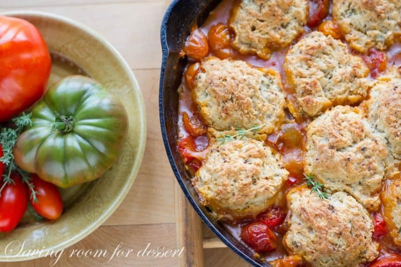 heirloom tomatoes and tomato cobbler
